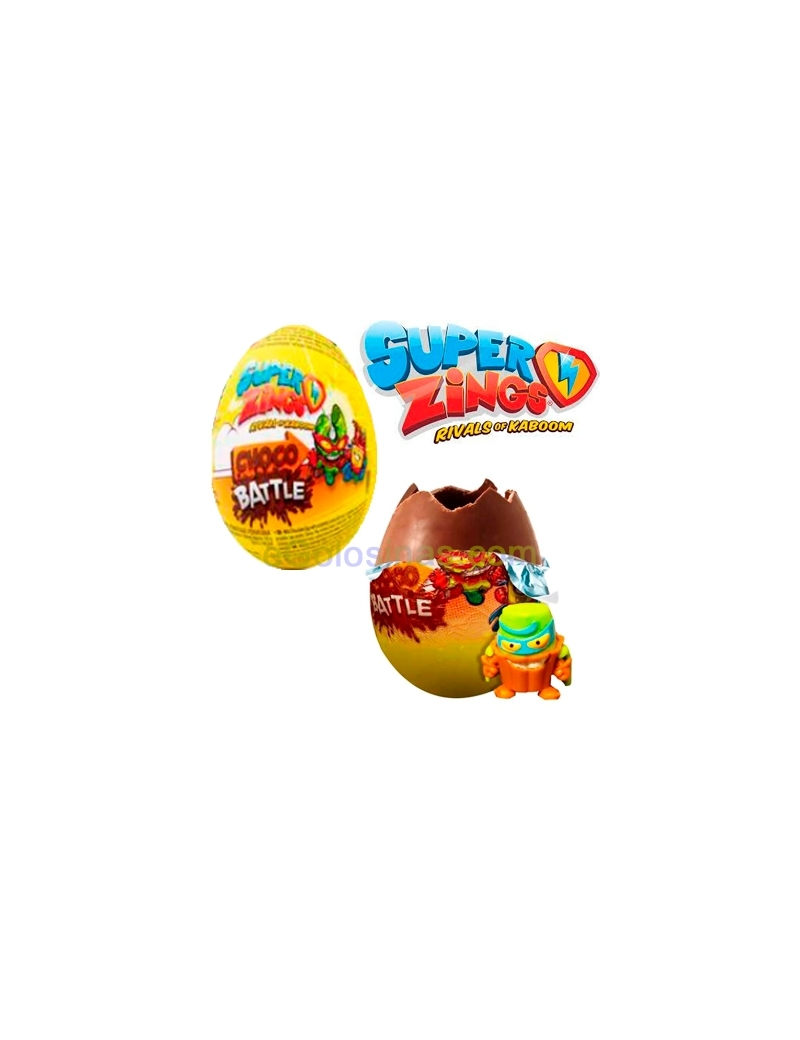 HUEVO CHOCOLATE SUPERZINGS 24uds