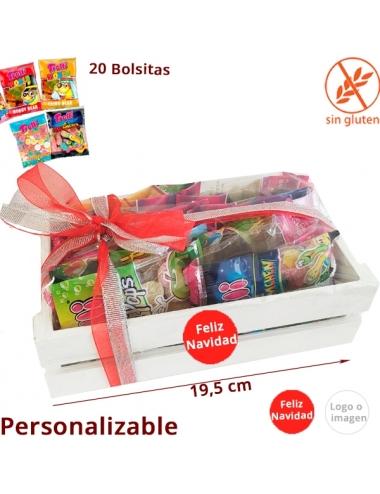 BANDEJA MADERA 20 BOLSITAS CHUCHES personalizable
