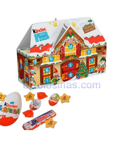 CALENDARIO ADVIENTO CHOCOLATE CASA KINDER