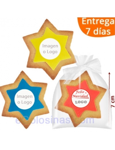 GALLETA ESTRELLA COLORES personalizadas