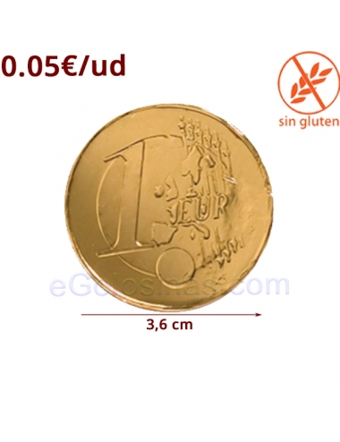 MONEDA CHOCOLATE MEDIANA 36mm 200uds SIMON COLL