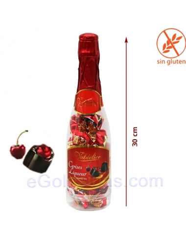 BOTELLA 22 BOMBONES CEREZA AL LICOR BRANDY