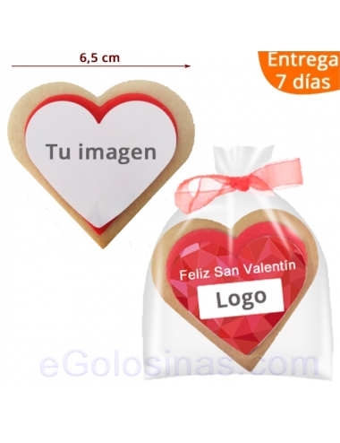GALLETA CORAZON PERSONALIZADA