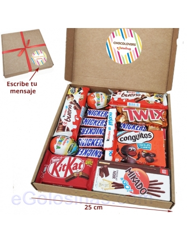 MAXI CAJA CHOCOLOVERS con DEDICATORIA