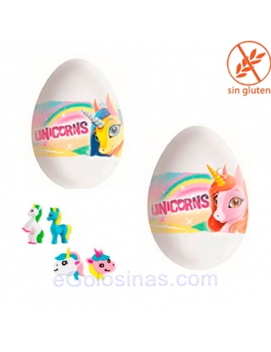 HUEVO CHOCOLATE UNICORNIO 24uds