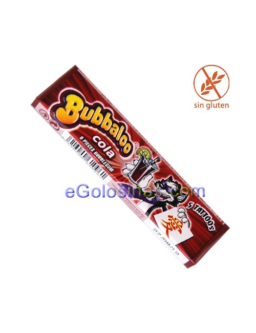 BUBBALOO TATTOO sabor COLA 20uds.