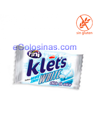 CHICLE KLET'S WHITE 200uds...