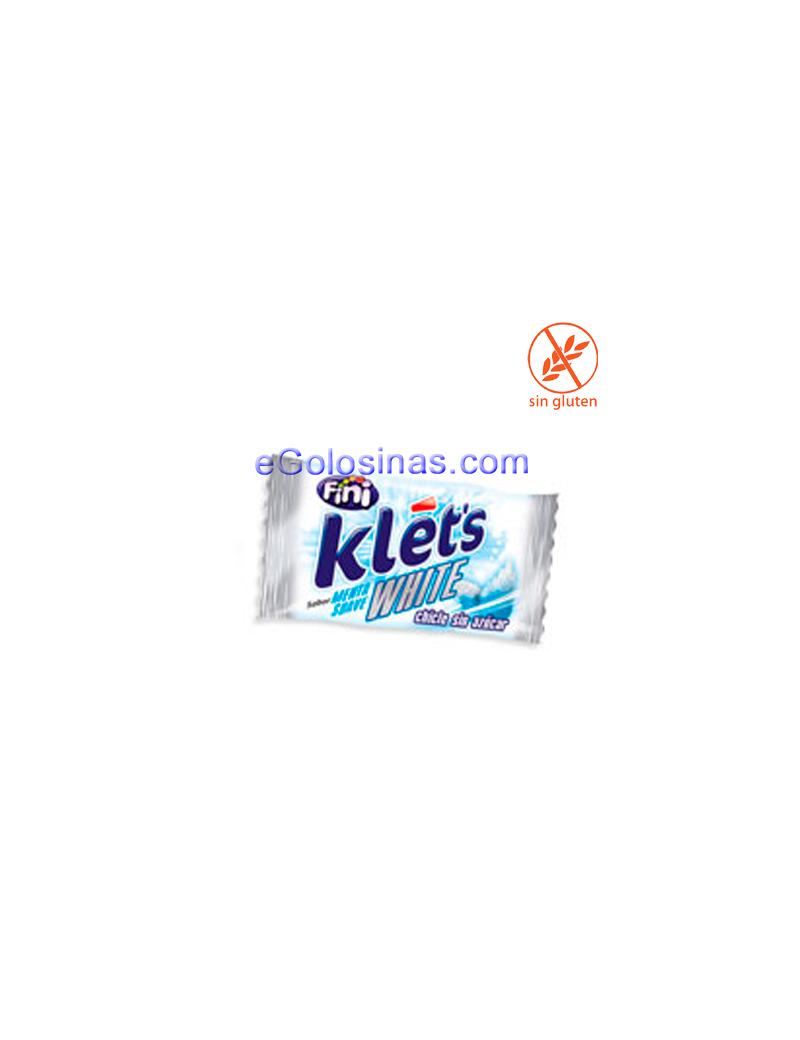 CHICLE KLET'S WHITE 200uds FINI
