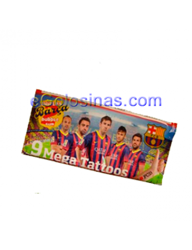 CHICLE MEGA TATTOOS FCBARCELONA 24uds