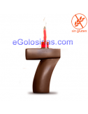 VELA CHOCOLATE nº 7 XOC CHIC