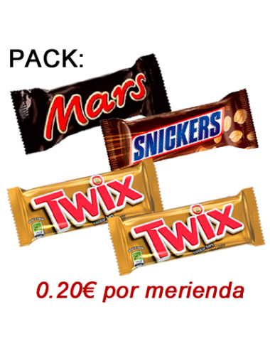 PACK 4 MINI SNACKS CHOCOLATE