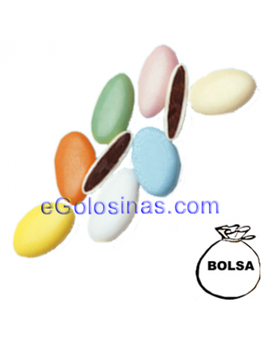 PELADILLAS GRANDES CHOCOLATE colores PASTEL 1kg