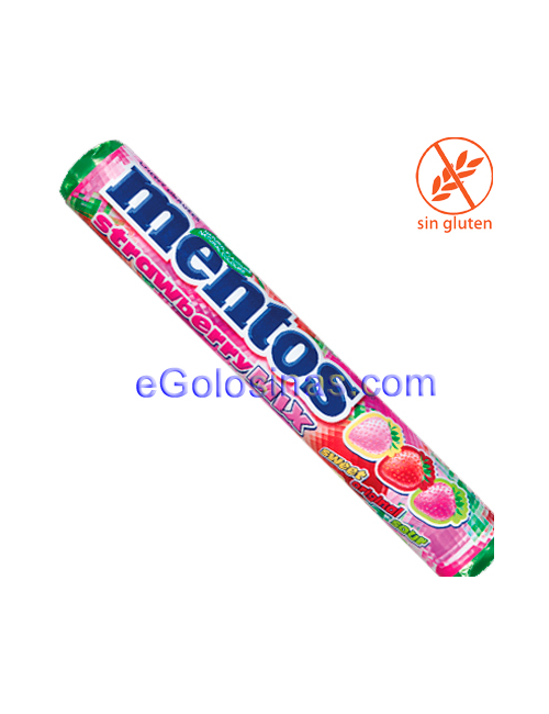 MENTOS FRESA MIX STICK 20uds