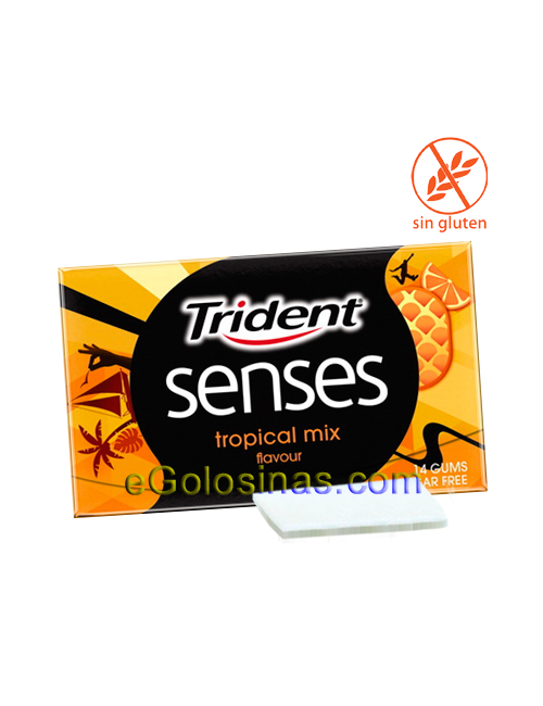 TRIDENT SENSES TROPICAL 12uds