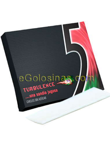 Chicle FIVE TURBULENCE sabor SANDIA 10uds