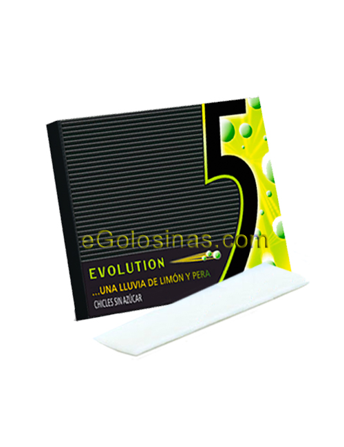 Chicle FIVE EVOLUTION sabor LIMON 10uds.