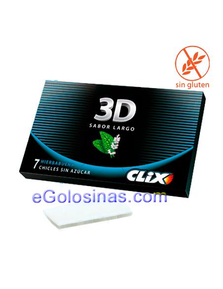 Chicles 3D CLIX sabor HIERBABUENA 12uds.