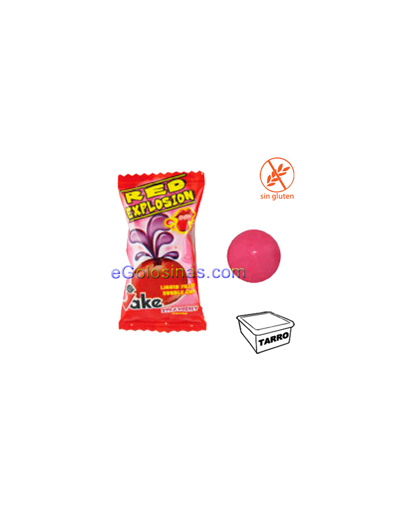 CHICLE RED EXPLOSION 200uds JAKE