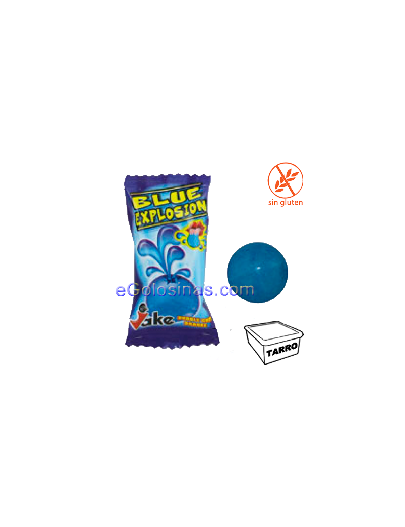 CHICLE BLUE EXPLOSION COLA 200uds JAKE