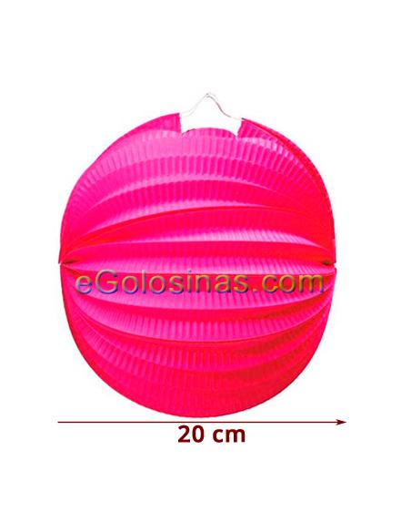 FAROLILLO ROSA 20cm 1ud