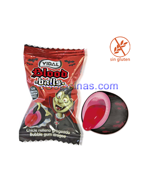 CHICLE BLOOD BALLS 200uds VIDAL