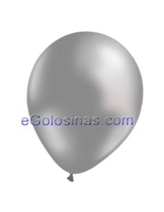 GLOBOS METALIZADO PLATA 22cm 50uds