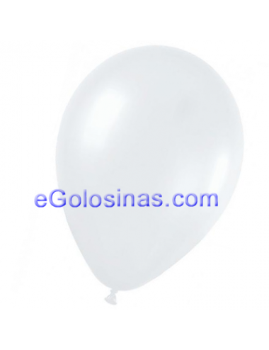 GLOBOS LATEX BLANCO 22cm 50uds