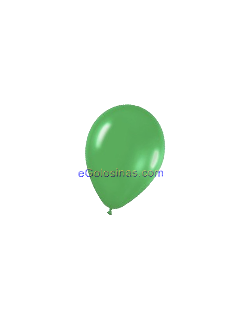 GLOBOS LATEX VERDE BOSQUE 22cm 50uds