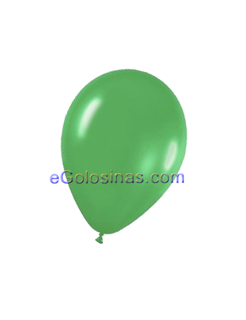 GLOBOS LATEX VERDE BOSQUE 30cm 10uds