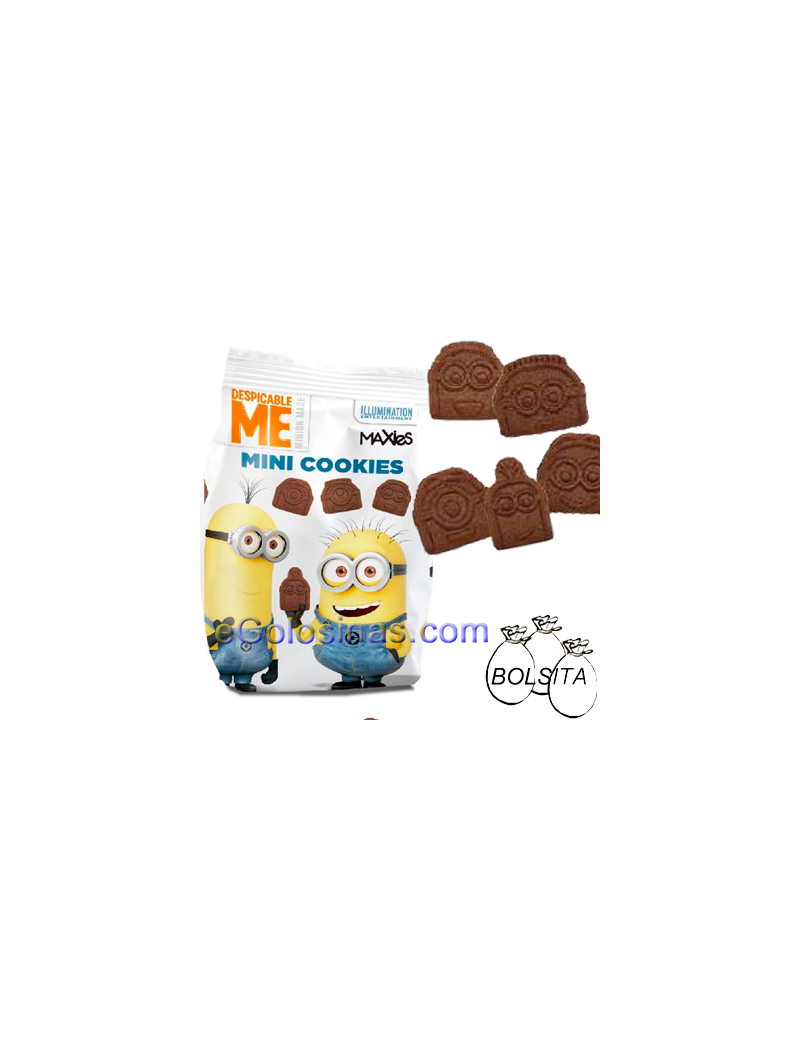 MINI COOKIES MINION 12 Bolsitas 120gr