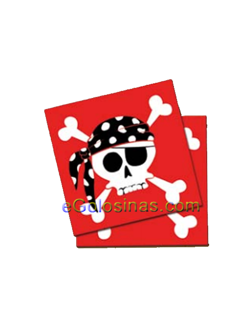 SERVILLETAS PIRATA PARTY 20uds