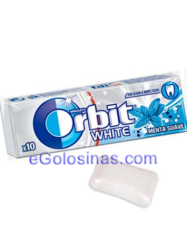 ORBIT WHITE GRAGEA sabor MENTA SUAVE 30uds. Sin Azucar