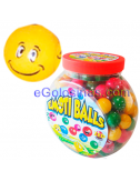 CHICLE BOLAS EMOTICONOS COLORES 200uds
