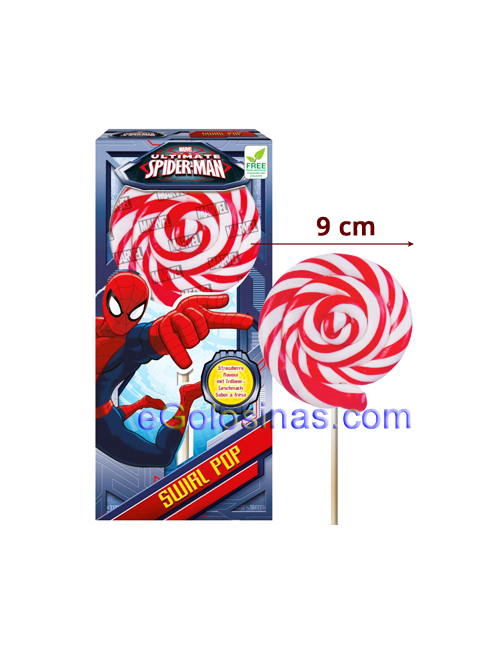 PIRULETA ROCK SPIDERMAN 12uds