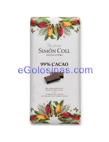 TABLETA CHOCOLATE NEGRO 99% 10uds SIMON