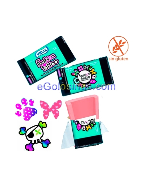 CHICLE FASHION TATTO 200uds VIDAL