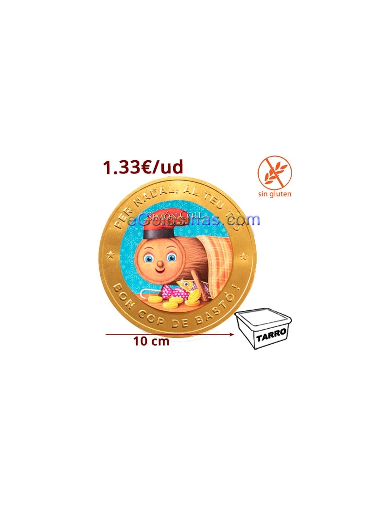 MEDALLON CHOCO CAGATIO 100mm 25uds