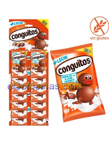 EXPOSITOR CONGUITOS LECHE 24uds 20gr