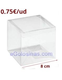 CAJAS PVC TRANSPARENTE 8cm 5uds