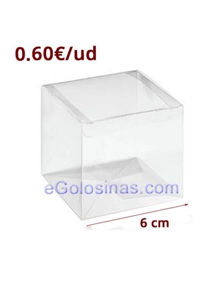 CAJAS PVC TRANSPARENTE 6cm 6uds
