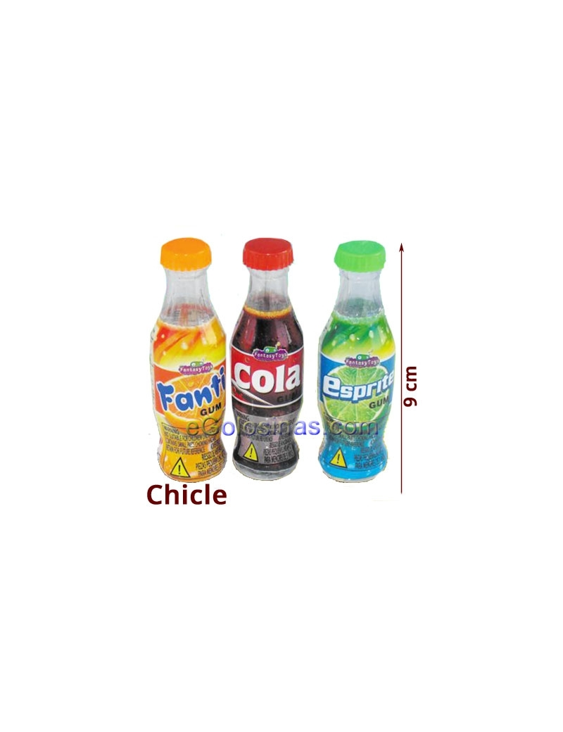 BOTELLA GUM COLA FANTI SPRATE 24uds