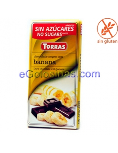 TABLETA CHOCOLATE BANANA 75gr TORRAS