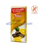 TABLETA CHOCOLATE NARANJA 75gr TORRAS