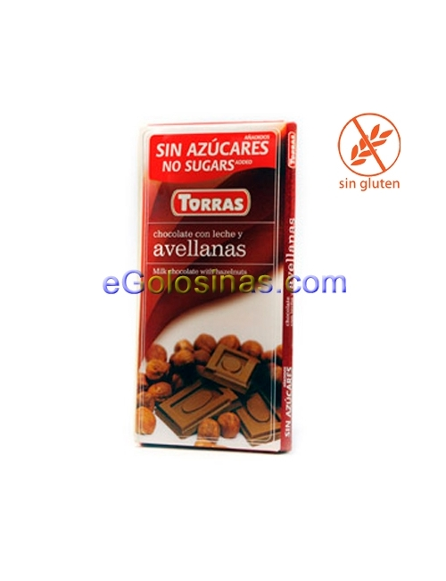 TABLETA CHOCOLATE AVELLANAS 75gr TORRAS