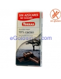 TABLETA CHOCOLATE 70% CACAO 75gr TORRAS