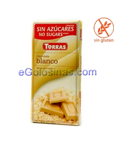 TABLETA CHOCOLATE BLANCO 75gr TORRAS