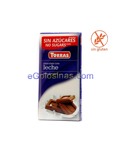 TABLETA CHOCOLATE LECHE 75gr TORRAS