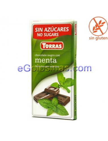 TABLETA CHOCOLATE MENTA 75gr TORRAS