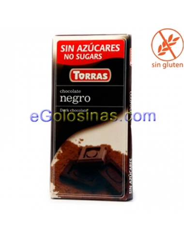 TABLETA CHOCOLATE NEGRO 75gr TORRAS