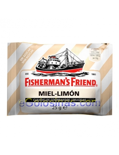 FISHERMAN'S MIEL Y LIMON 12uds
